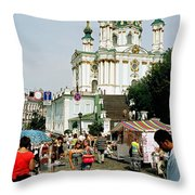 Kiev Andreyevsky Spusk1 Throw Pillow