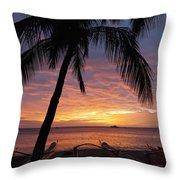 Kihei Sunset Throw Pillow