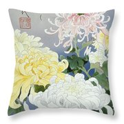 Kiku Crop I Throw Pillow