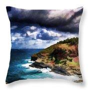 Kilaeua Point National Wildlife Refuge- Kauai  Hawaii Throw Pillow