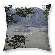 Kilauea Iki Crater - Big Island Throw Pillow