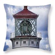 Kilauea Point Lighthouse Hawaii Throw Pillow