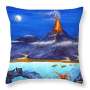 Kilauea Volcano Hawaii Throw Pillow
