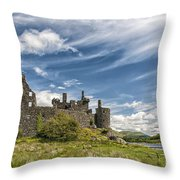 Kilchurn Castle 01 Throw Pillow