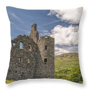 Kilchurn Castle 03 Throw Pillow
