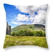 Kilchurn Castle Ruin Throw Pillow