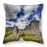 Kilchurn Castle Scotland Throw Pillow