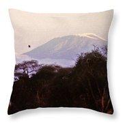Kilimanjaro In The Morning Throw Pillow