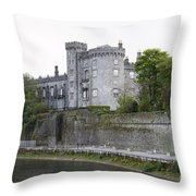 Kilkenny Castle Seen From River Nore Throw Pillow