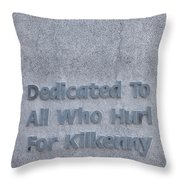 Kilkenny Hurling Monument, Kilkenny Throw Pillow