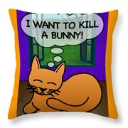 Cat Thoughts Throw Pillow