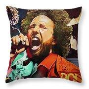 Zack De La Rocha-killing In The Name  Throw Pillow
