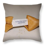 Killing Time Throw Pillow