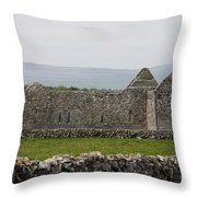 Kilmacduagh Church Ruin Throw Pillow