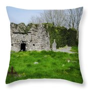 Kilmore Church Ruins - Founded By St Patrick - Ballina Co Mayo Throw Pillow