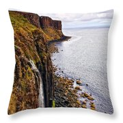 Kilt Rock Throw Pillow