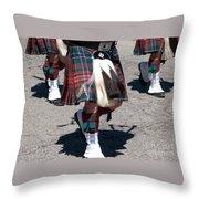 Kilts On Parade Throw Pillow