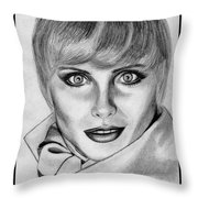 Kim Alexis In 1985 Throw Pillow