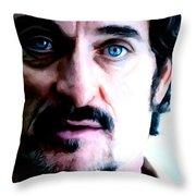 Kim Coates Large Size Portrait Throw Pillow