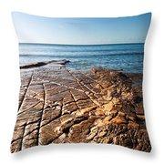 Kimmeridge Bay Seascape  Throw Pillow