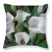 Kim's Flowers Throw Pillow