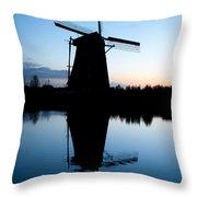 Kinderdijk Dawn Throw Pillow