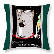 Kinemortophobia Throw Pillow