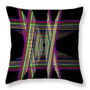 Kinetic Rainbow 16 Throw Pillow