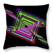 Kinetic Rainbow 17 Throw Pillow