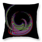 Kinetic Rainbow 18 Throw Pillow