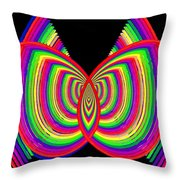 Kinetic Rainbow 27 Throw Pillow