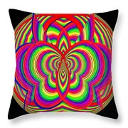 Kinetic Rainbow 28 Throw Pillow