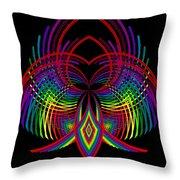 Kinetic Rainbow 30 Throw Pillow