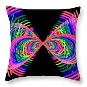 Kinetic Rainbow 38 Throw Pillow