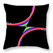 Kinetic Rainbow 39 Throw Pillow