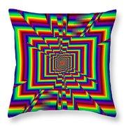 Kinetic Rainbow 42 Throw Pillow