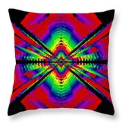 Kinetic Rainbow 44 Throw Pillow