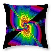 Kinetic Rainbow 47 Throw Pillow