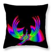 Kinetic Rainbow 49 Throw Pillow