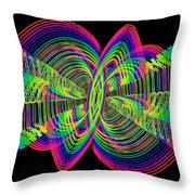 Kinetic Rainbow 55 Throw Pillow
