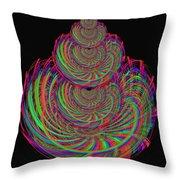 Kinetic Rainbow 67 Throw Pillow