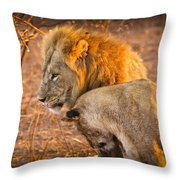King And Queen Throw Pillow