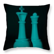King And Queen In Turquois Throw Pillow