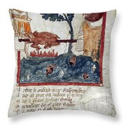 King Arthur And Giant Throw Pillow