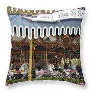 King Arthur Carrousel Fantasyland Disneyland Throw Pillow