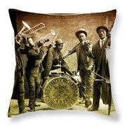 King Carter Jazzing Orchestra Throw Pillow