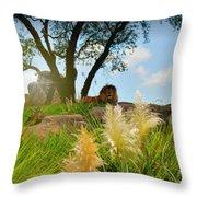 King Cat Throw Pillow