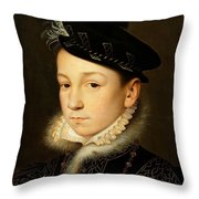 King Charles Ix Of France Throw Pillow