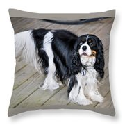 King Charles On The Boardwalk Throw Pillow