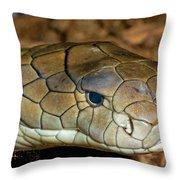 King Cobra Throw Pillow